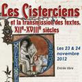 Les Cisterciens et la transmission des textes, XIIe-XVIIIe siècles